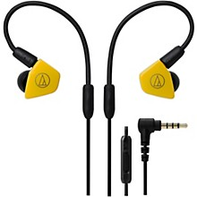 ATH-LS50IS In-Ear Headphones with In-line Mic & Control Yellow