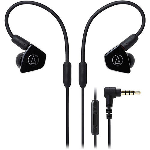 Audio-Technica ATH-LS50ISBK In-Ear Dynamic Drive Headphones in Black