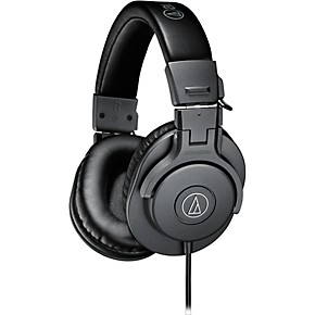 audio technica ath m30x closed back professional studio monitor headphones matte grey musician. Black Bedroom Furniture Sets. Home Design Ideas