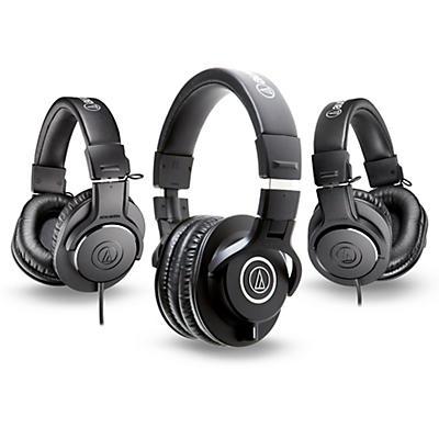 Audio-Technica ATH-M40x Headphones with 2 ATH-M20x Headphones