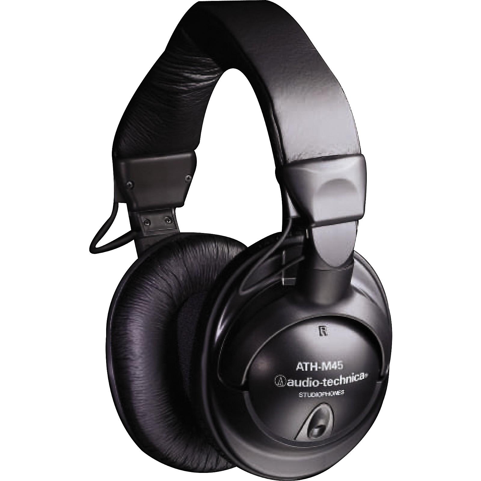Audio-Technica ATH-M45 Studio Monitor Headphones (Black)