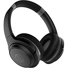 ATH-S200BT Wireless On-Ear Headphones with Built-in Mic & Controls Grey/Blue