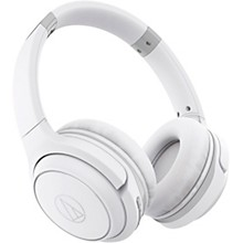 ATH-S200BT Wireless On-Ear Headphones with Built-in Mic & Controls White
