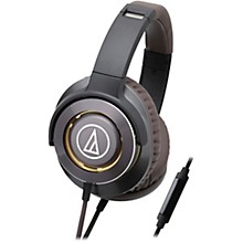 Audio-Technica ATH-WS770IS Solid Bass Over-Ear Headphones with In-line Mic & Control