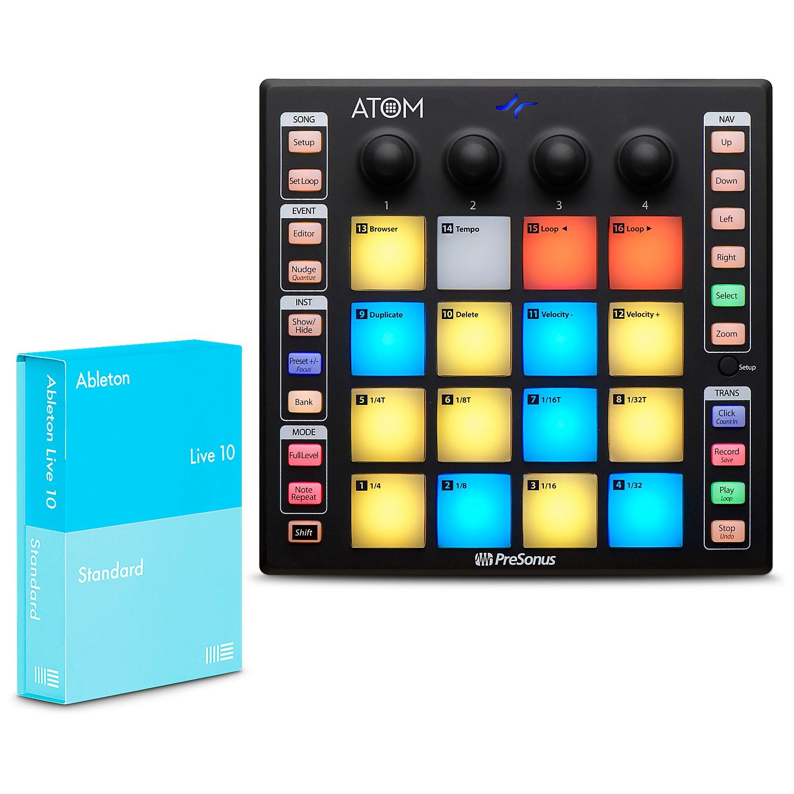 PreSonus ATOM Production Controller and Ableton Live 10
