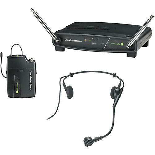 audio technica atw 901 h system 9 vhf wireless headset microphone system musician 39 s friend. Black Bedroom Furniture Sets. Home Design Ideas