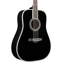 Ibanez AV5DBK Solid Top Dreadnought Acoustic Guitar (Black)