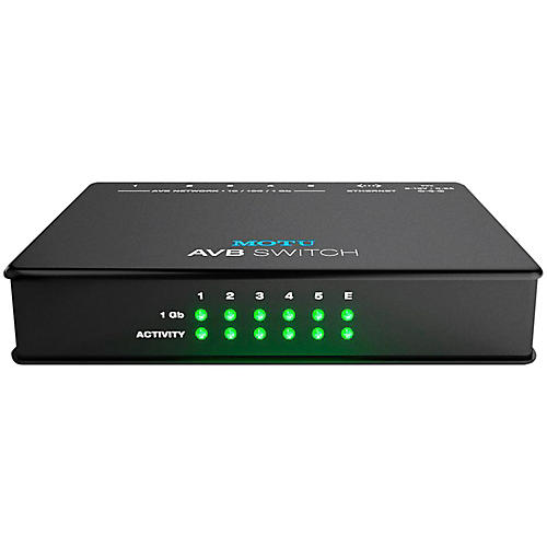 MOTU AVB Switch Five-Port AVB Ethernet Switch