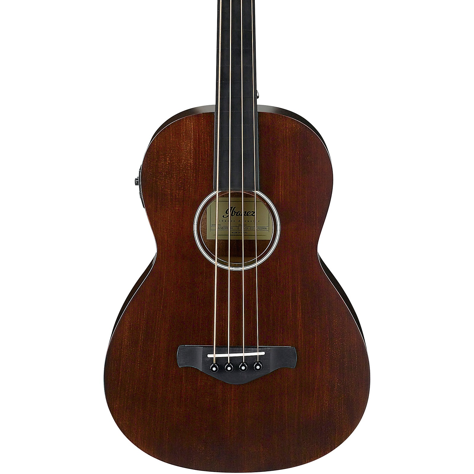 Ibanez AVNB1FE Artwood Vintage Parlor Solid-Top Acoustic-Electric Bass