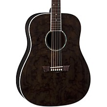 AXS Dreadnought Quilt Acoustic Guitar Transparent Black