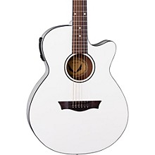 AXS Performer Acoustic-Electric Guitar Classic White