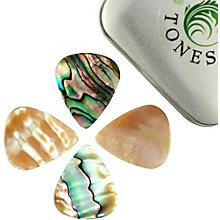Timber Tones Abalone Tones Mixed Tin of 4 Guitar Picks