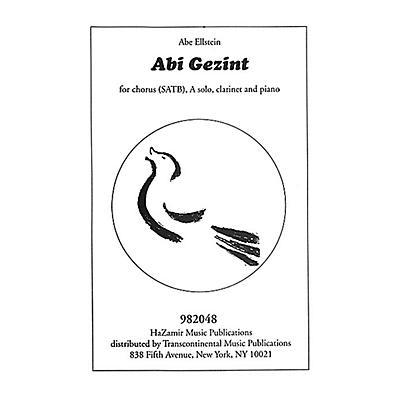 Transcontinental Music Abi Gezint SATB arranged by Joshua Jacobson