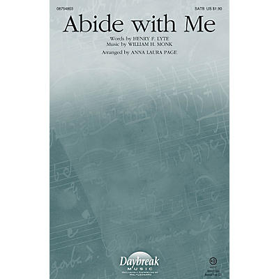 Daybreak Music Abide with Me SATB arranged by Anna Laura Page