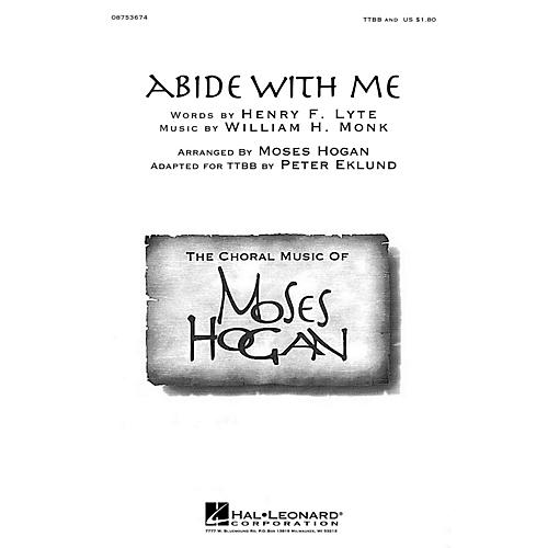 Hal Leonard Abide with Me TTBB A Cappella arranged by Moses Hogan