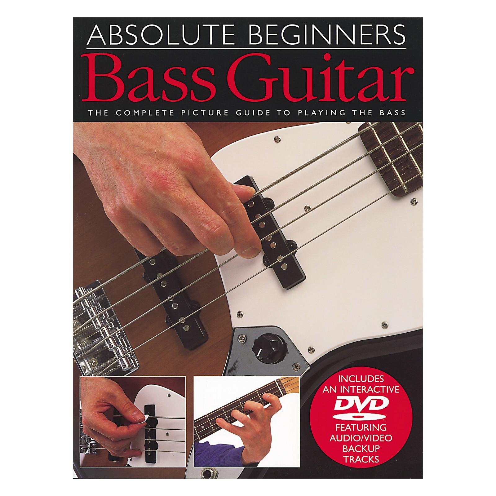 Music Sales Absolute Beginners Bass Guitar Book and DVD