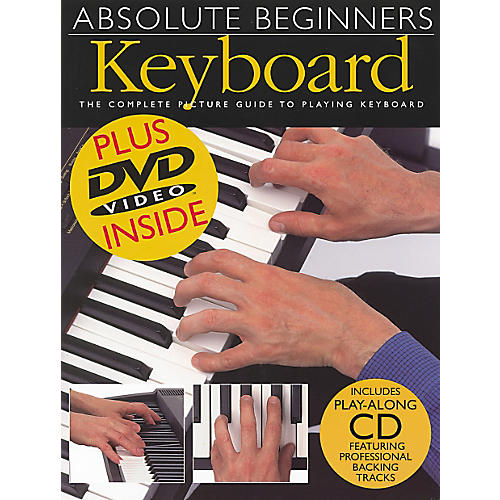 Music Sales Absolute Beginners Keyboard Book/CD/DVD