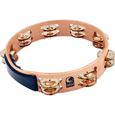 Toca Acacia Tambourine with Brass Jingles