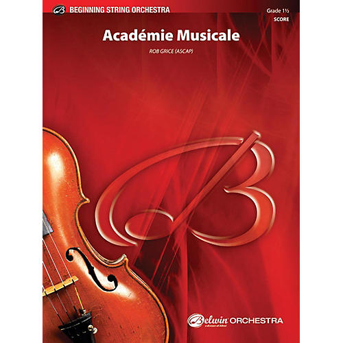 Alfred Academie Musicale String Orchestra Grade 1.5
