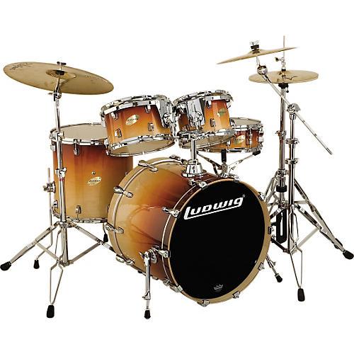 ludwig accent cs custom elite fusion plus 5 piece drum set musician 39 s friend. Black Bedroom Furniture Sets. Home Design Ideas