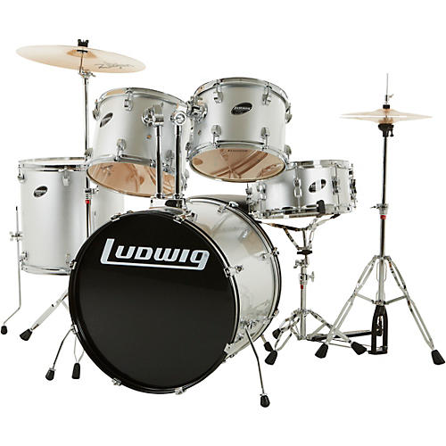 ludwig accent series complete drum set silver musician 39 s friend. Black Bedroom Furniture Sets. Home Design Ideas