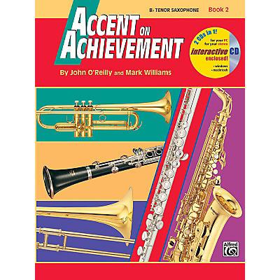 Alfred Accent on Achievement Book 2 B-Flat Tenor Saxophone Book & CD