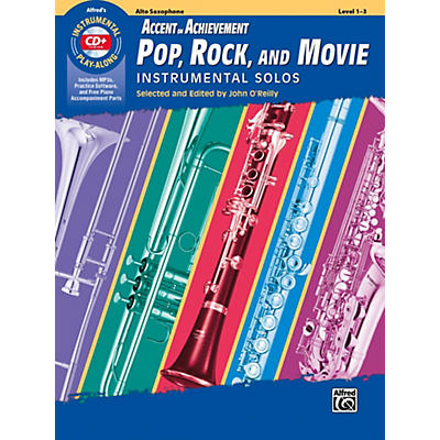 Alfred Accent on Achievement Pop, Rock, and Movie Instrumental Solos Alto Saxophone Book & CD