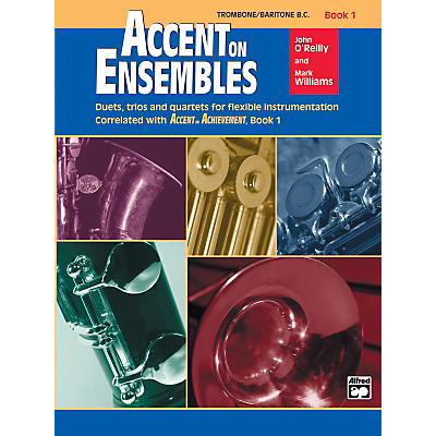 Alfred Accent on Ensembles Book 1 Trombone Baritone B.C.
