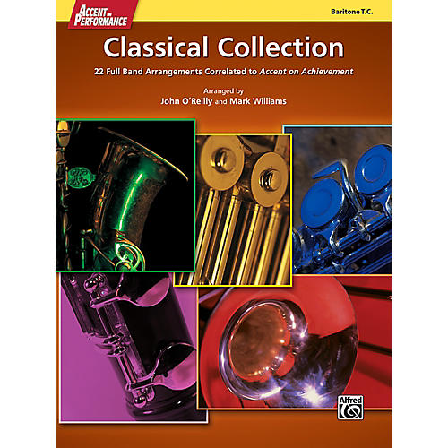 Alfred Accent on Performance Classical Collection Baritone Treble Clef Book