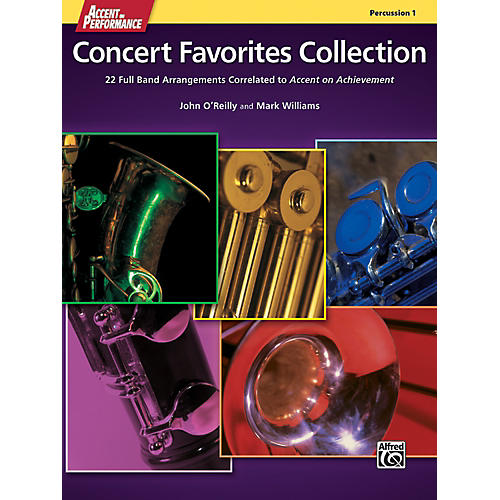 Alfred Accent on Performance Concert Favorites Collection Percussion 1 Book
