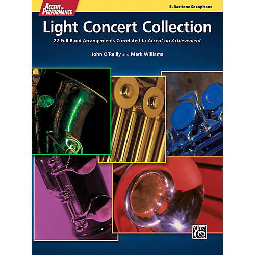 Alfred Accent on Performance Light Concert Collection Baritone Saxophone Book