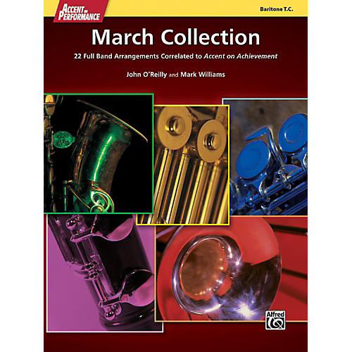 Alfred Accent on Performance March Collection Baritone Treble Clef Book