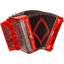 Accordion AL3112 Red with Case GCF