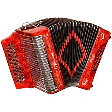 Open BoxAlacran Accordion AL3112 Red with Case