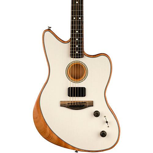 Fender Acoustasonic Jazzmaster Acoustic-Electric Guitar Arctic White