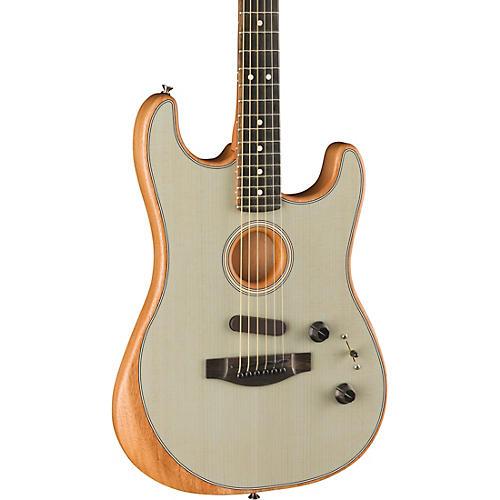 Fender Acoustasonic Stratocaster Acoustic-Electric Guitar Trans Sonic Blue