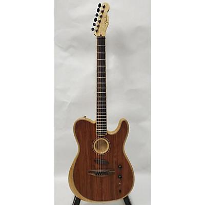 Fender Acoustasonic Telecaster Exotic Cocobolo Acoustic Electric Guitar