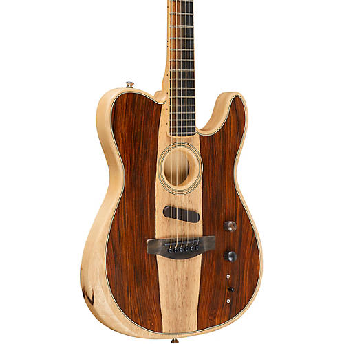 Fender Acoustasonic Telecaster Exotic Wood Acoustic-Electric Guitar Natural Cocobolo