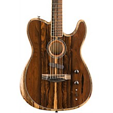 Acoustasonic Telecaster Exotic Wood Acoustic-Electric Guitar Natural Ziricote