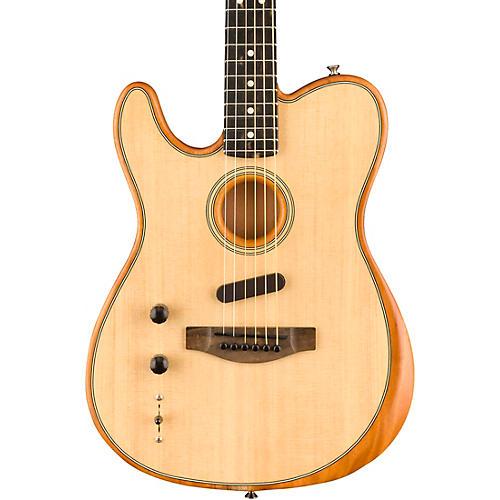 Fender Acoustasonic Telecaster Left-Handed Acoustic-Electric Guitar Natural