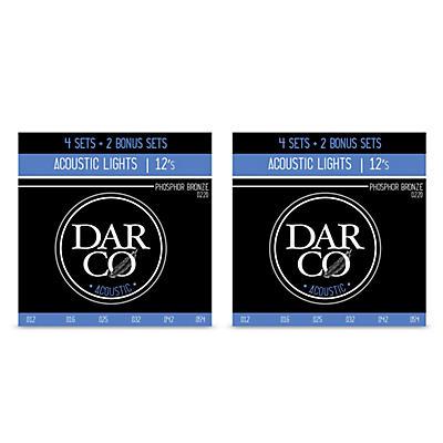 Darco Acoustic 6 Set Value Pack Phosphor Bronze Lights-Light (12-54) 2-Pack