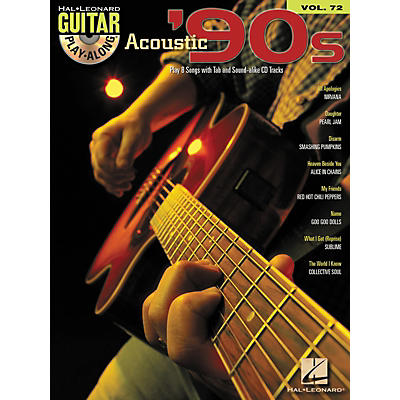 Hal Leonard Acoustic '90s Guitar Play-Along Volume 72 Book/CD
