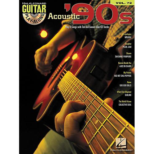Hal Leonard Acoustic '90s Guitar Play-Along Volume 72 Book/CD