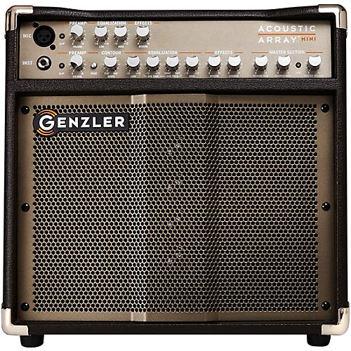 Genzler Amplification Acoustic Array Mini AA-MINI 100W 1x8 With 4x1.5 Line Array Acoustic Guitar Combo Amp Brown