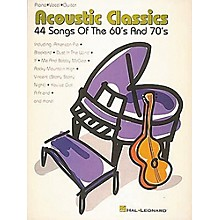 Hal Leonard Acoustic Classics 44 Songs Of The '60s And '70s Piano, Vocal, Guitar Songbook