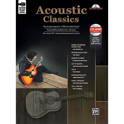 Alfred Acoustic Classics Guitar Play-Along Guitar TAB Book & CD-ROM Songbook