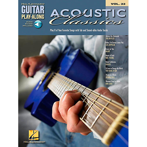 Hal Leonard Acoustic Classics Guitar Play-Along Series Volume 33 Book with CD