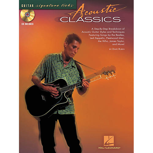 Hal Leonard Acoustic Classics Guitar Signature Licks Book & CD