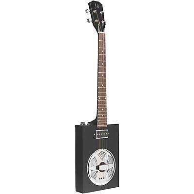 JN Guitars Acoustic-Electric Cigar Box Guitar with Resonator