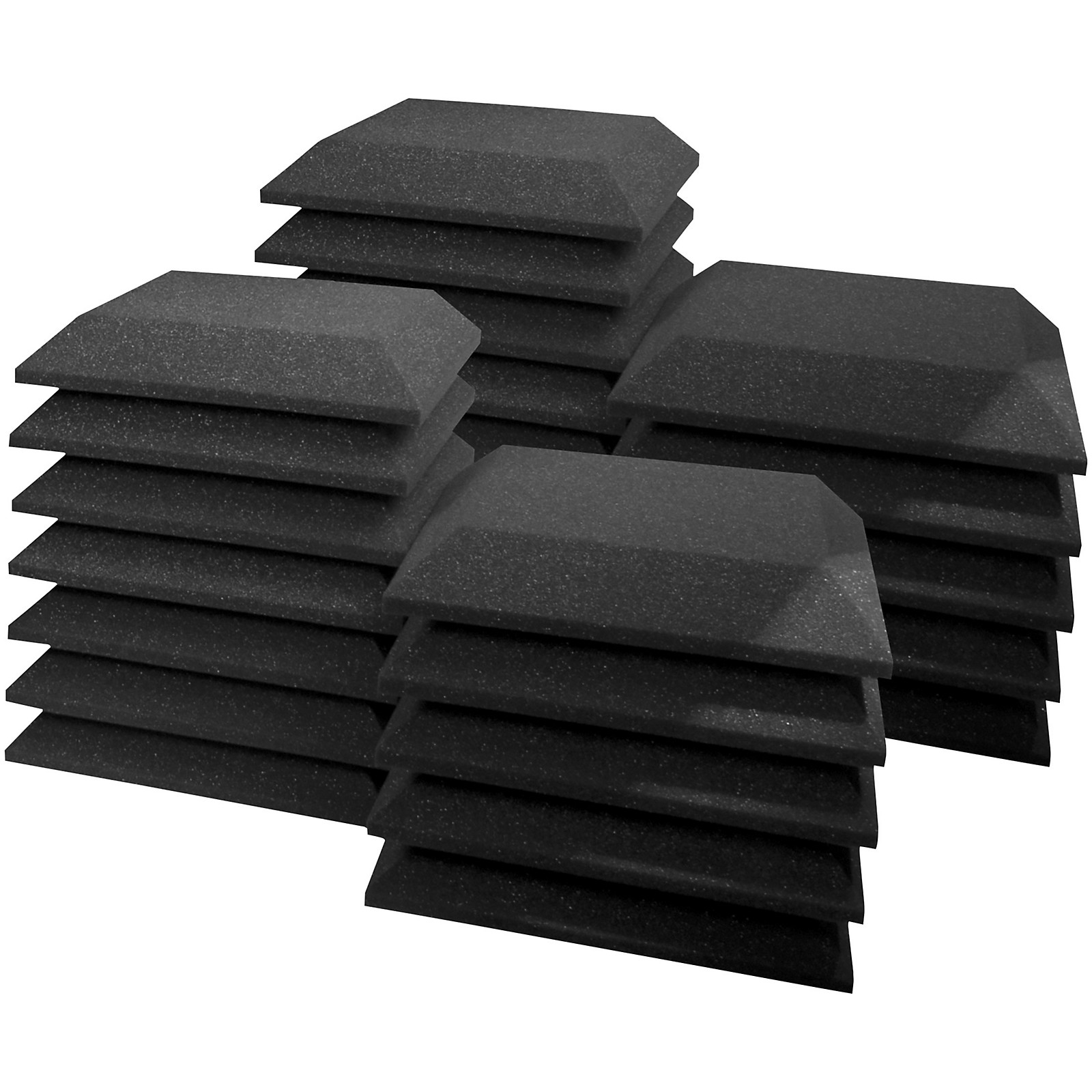 Ultimate Acoustics Acoustic Foam Absorption Panel - 12x12x2 Bevel (24 Pack)